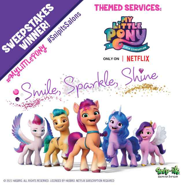Congratulations to our Sweepstakes Winners! Thank you for celebrating Hasbro's My Little Pony: A New Generation – only o...