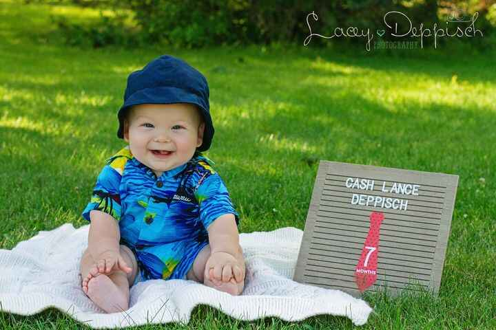 Cash {7 Months} 💙© Lacey Deppisch PhotographyFeel free to tag and share. Do not crop or edit.