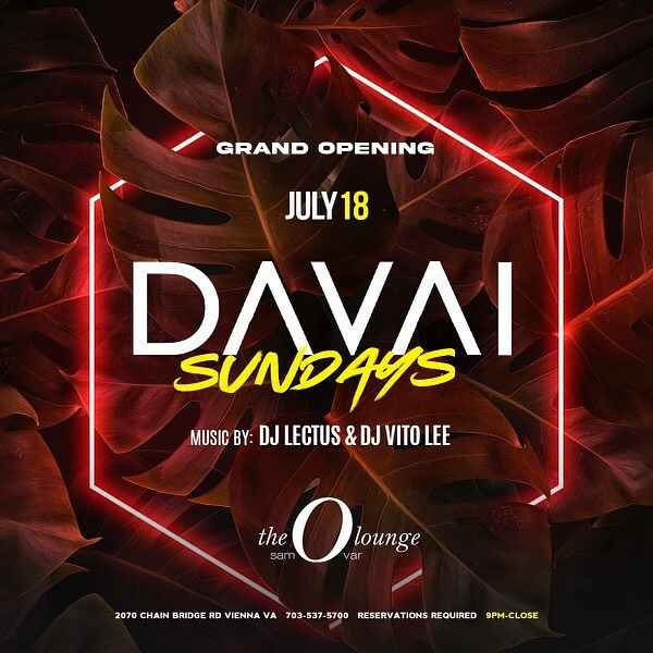 We happy to announce that we start our DAVAI SUNDAYS parties at this beautiful venue @theolounge - great food, drinks, a...