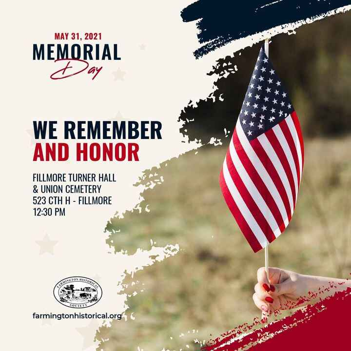 Join us for our annual Memorial Day program of remembrance and wreath-laying ceremony!The program will begin at 12:30 pm...