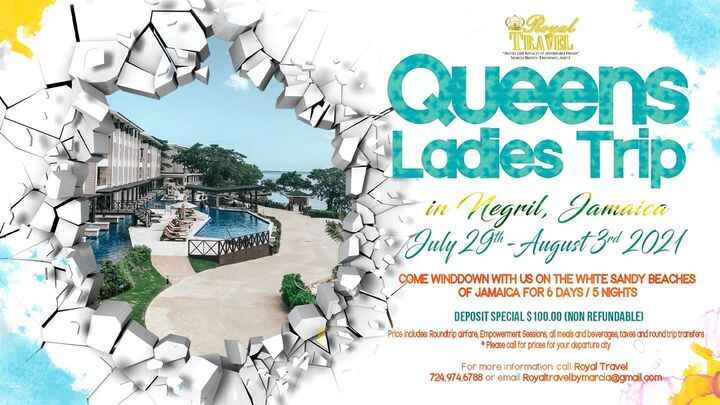 Come relax with us on the white sandy beaches of Jamaica!! Book  today only 2 suites available! #girlstrip2021